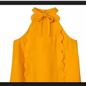 Victoria Beckham for Target Lt Orange Scallop Top